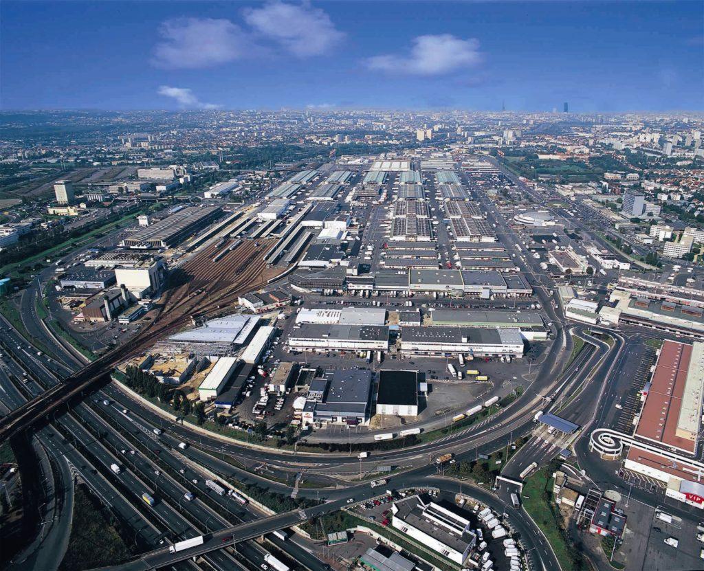 Vue aérienne du marché de Rungis